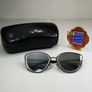 CHANEL 4222 108/W6 SILVER MIRROR CATEYE SUNGLASSES